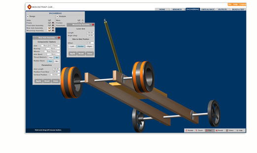 Mousetrap Car 2 0 Mousetrap Powered Car Stem Software Application Whitebox Learning